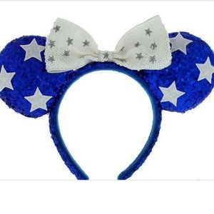 Disney sequin Minnie ears. Fourth of July themed